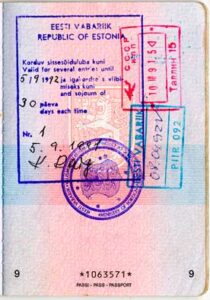Viro myöntää ensimmäisen sodanjälkeisen viisumin 5.9.1991