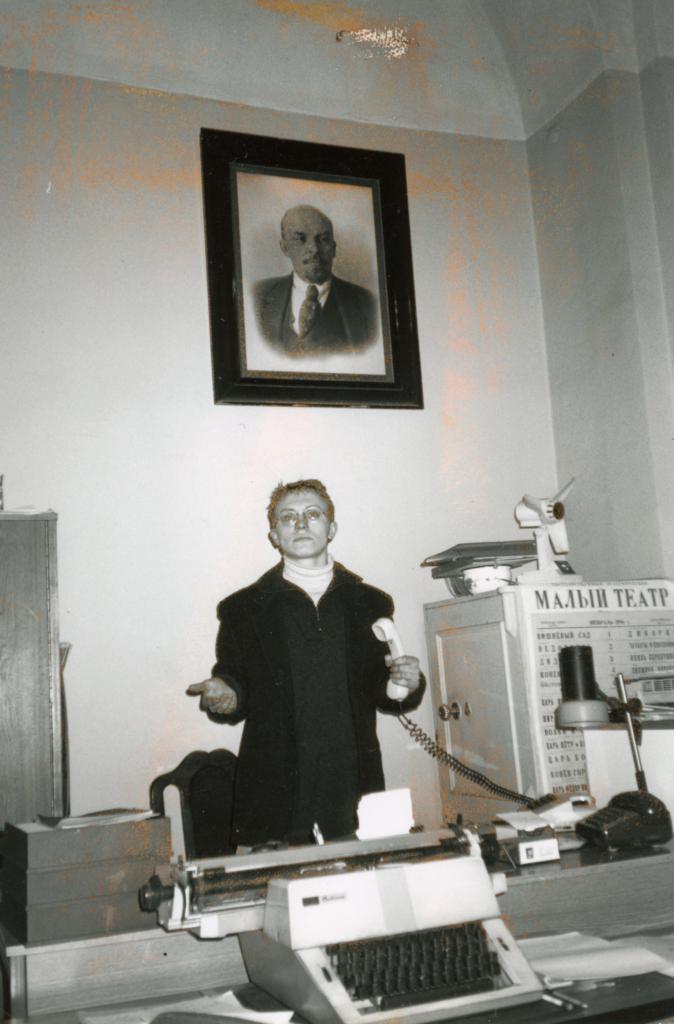 Helmikuussa 1996 Antto Terras oli harjoittelijana Moskovassa Maly-teatterissa opiskellessaan Tampereen yliopistossa. KUVA: Antto Terraksen kotialbumi.